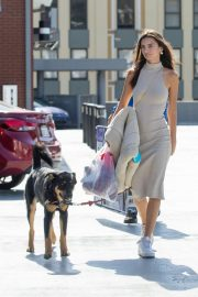 Emily Ratajkowski - Shops for pet supplies and Halloween wigs in Los Angeles