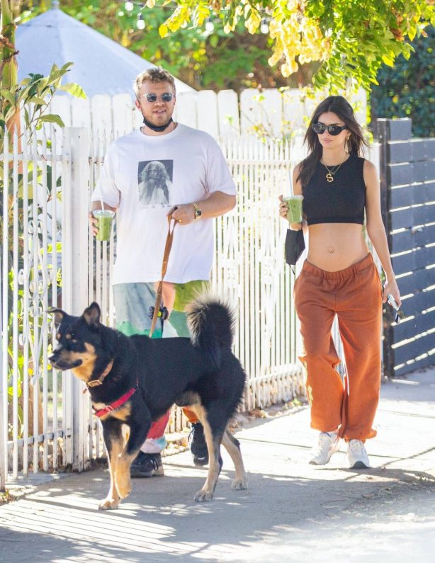 Emily Ratajkowski take a stroll with houseband in Los Angeles