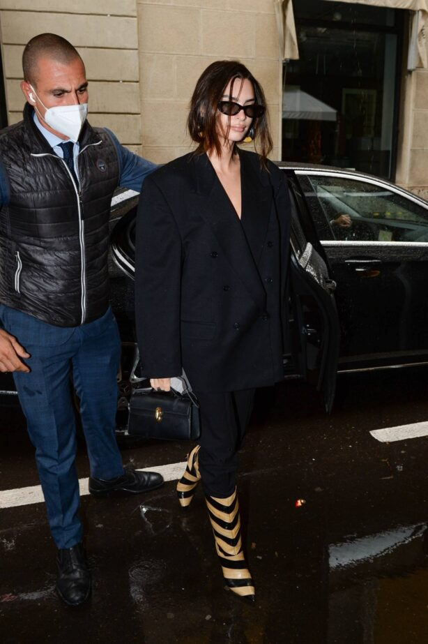 Emily Ratajkowski - Versace - Fendi drop collection during Milan Fashion Week