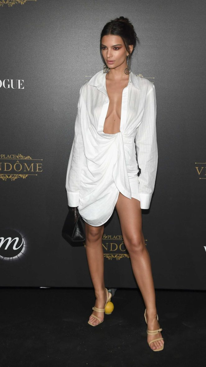 Emily Ratajkowski - Vogue Party at Paris Fashion Week