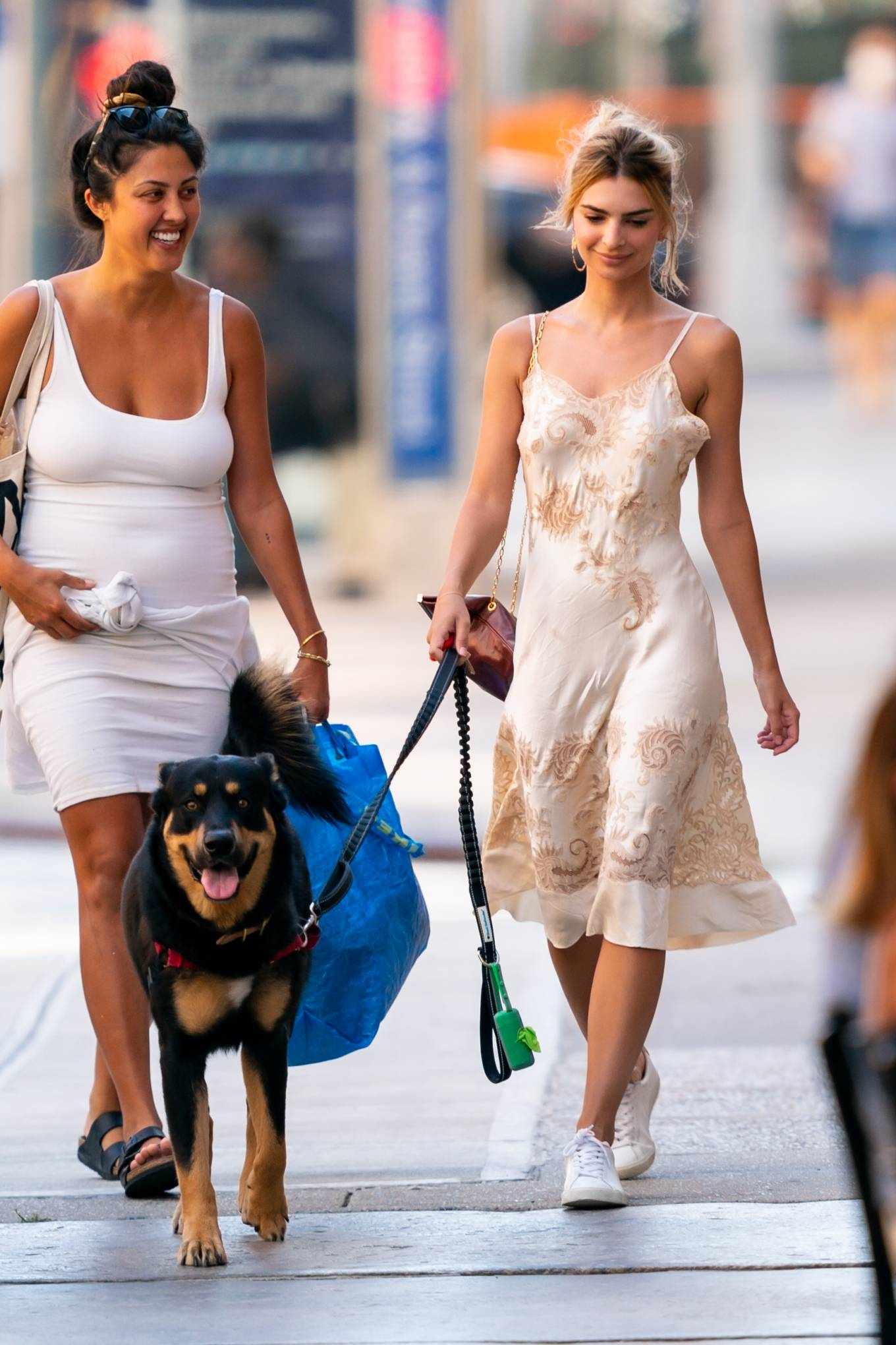 Emily Ratajkowski - Walking her dog Colombo in New York City