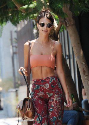 Emily Ratajkowski - Walking her Dog in Los Angeles