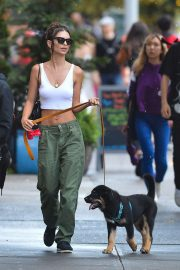 Emily Ratajkowski - Walking her dog in New York City