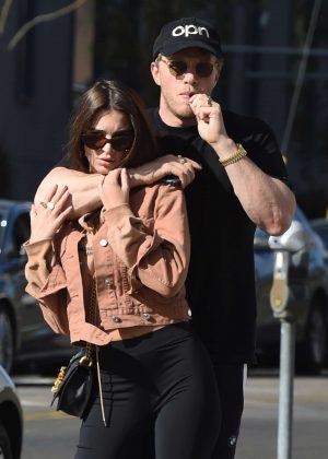 Emily Ratajkowski with boyfriend at Sugarfish in Hollywood