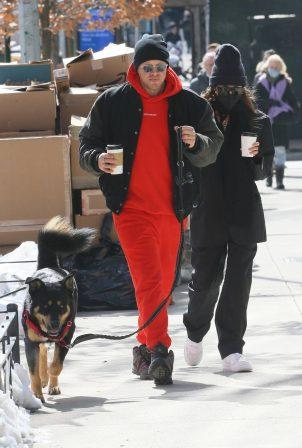 Emily Ratajkowski - With Sebastian Bear-McClard and their dog in New York