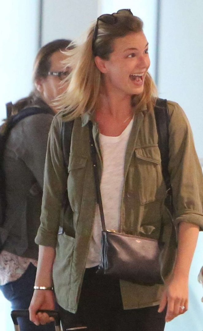 Emily VanCamp Arrives at Toronto Airport