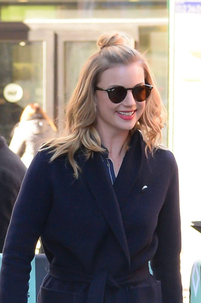 Emily VanCamp - Arriving to AOL Build Series in New York City