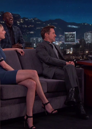 Emily VanCamp at 'Jimmy Kimmel Live' in LA