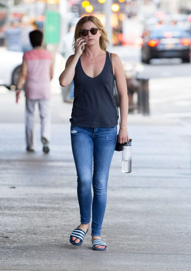 Emily VanCamp in Jeans out in New York City