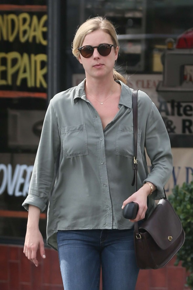 Emily VanCamp in Jeans Shopping in West Hollywood
