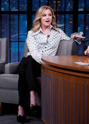 Emily VanCamp on 'Late Night with Seth Meyers' in New York