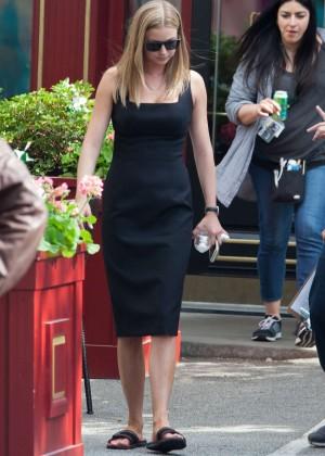 Emily VanCamp - On set of 'Captain America: Civil War' in Atlanta