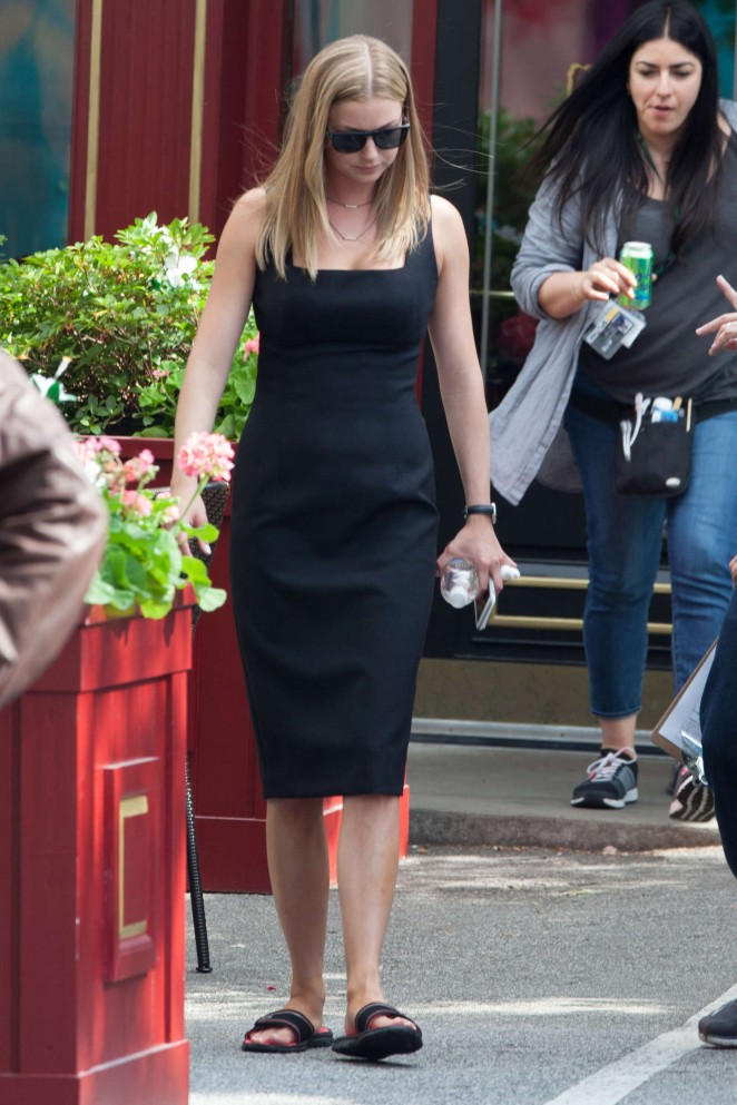 Emily VanCamp - On set of 'Captain America: Civil War' in Atlanta