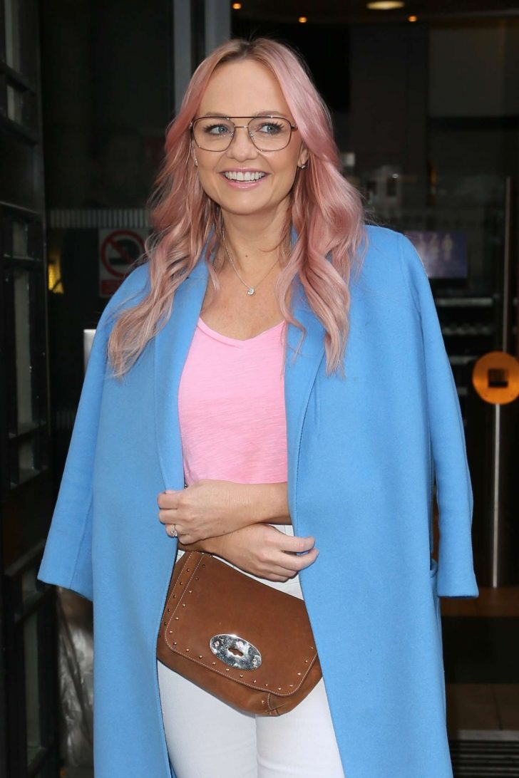Emma Bunton at BBC Radio 2 in London