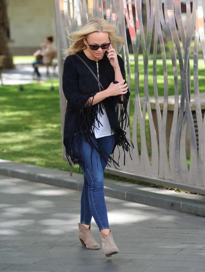 Emma Bunton in Jeans out in London