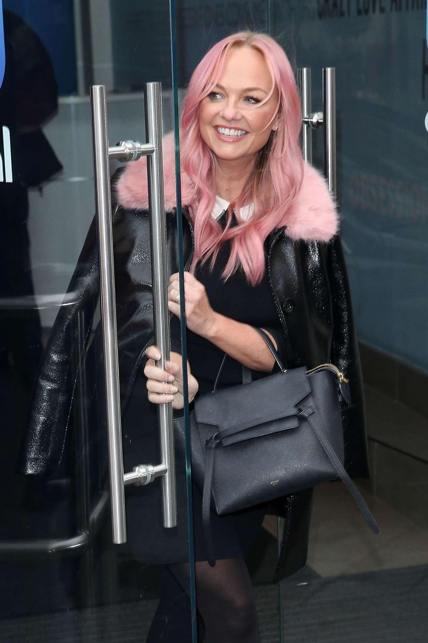 Emma Bunton - Leaving Global Radio Studios in London