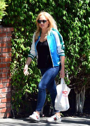 Emma Bunton - Leaving her hotel in Los Angeles