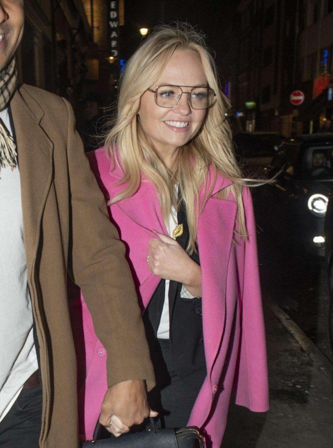 Emma Bunton - Leaving Soho House members club in London