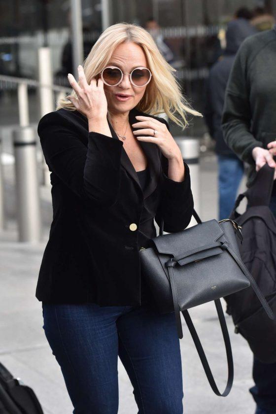 Emma Bunton - Leaving Virgin Radio studios in London