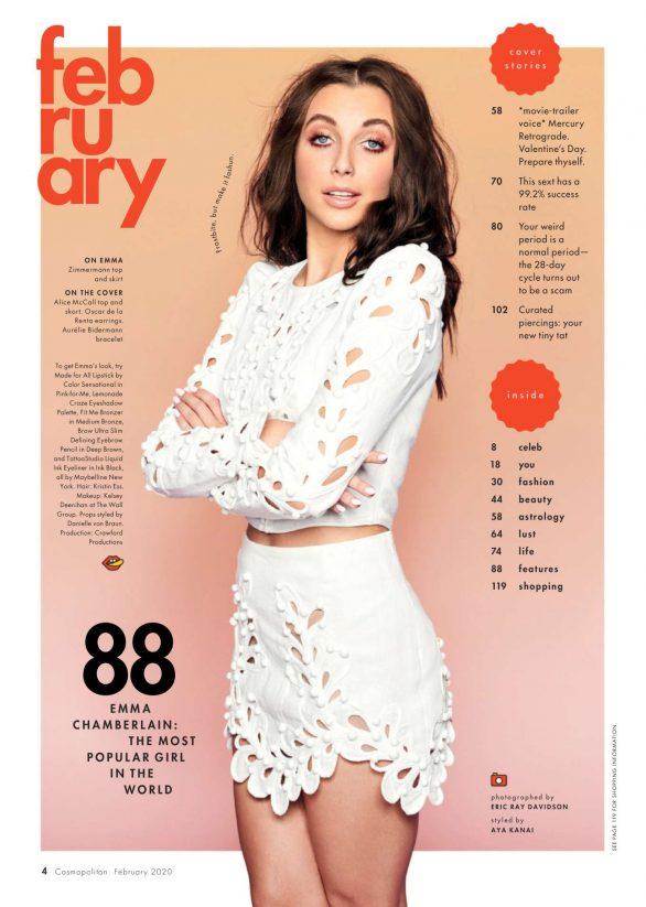 Emma Chamberlain - Cosmopolitan US Magazine (February 2020)