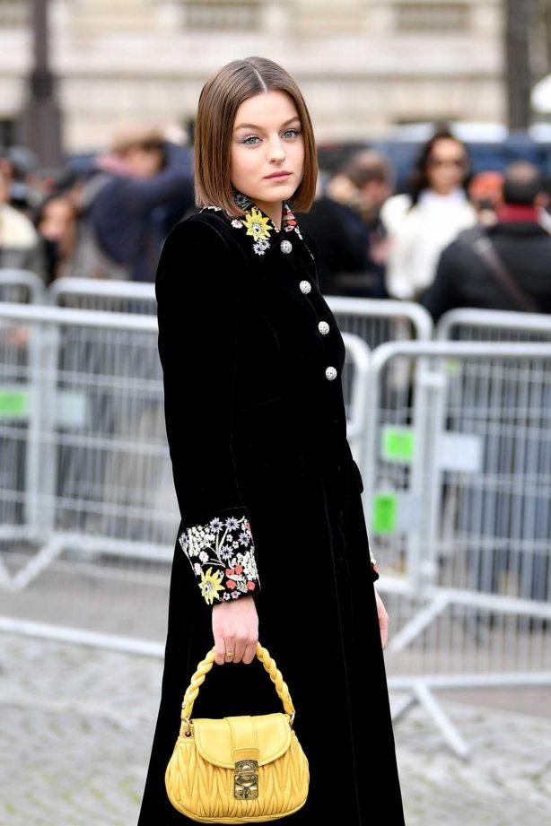 Emma Corrin - Miu Miu Show at 2020 Paris Fashion Week Womenswear F-W 20-21