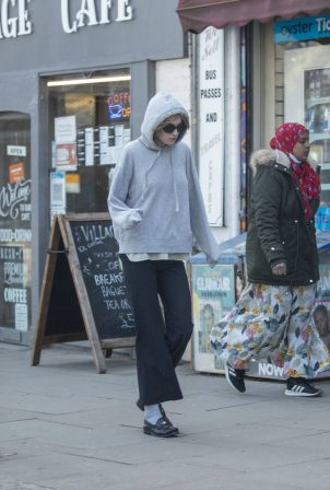 Emma Corrin - Seen while out in North London
