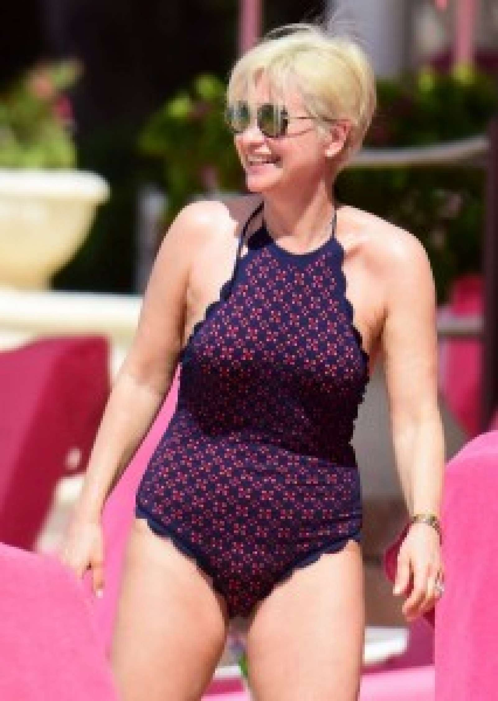 Emma Forbes in Swimsuit in Barbados