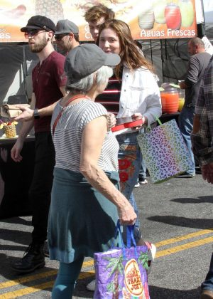 Emma Kenney – Shopping at Farmer's Market in Studio City