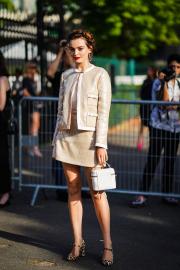 Emma Mackey - Arriving at Miu Miu Resort 2020 Show in Paris