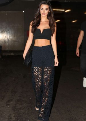 Emma McVey Arriving at 'Mr Wong' in Sydney