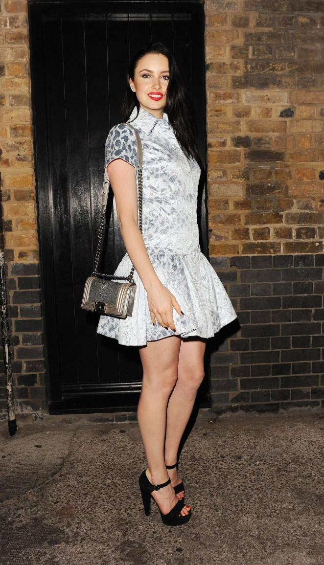 Emma Miller - Leaves The Chiltern Firehouse in London