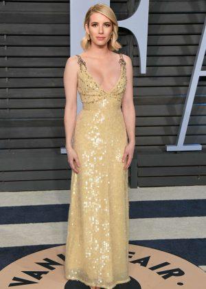 Emma Roberts - 2018 Vanity Fair Oscar Party in Hollywood