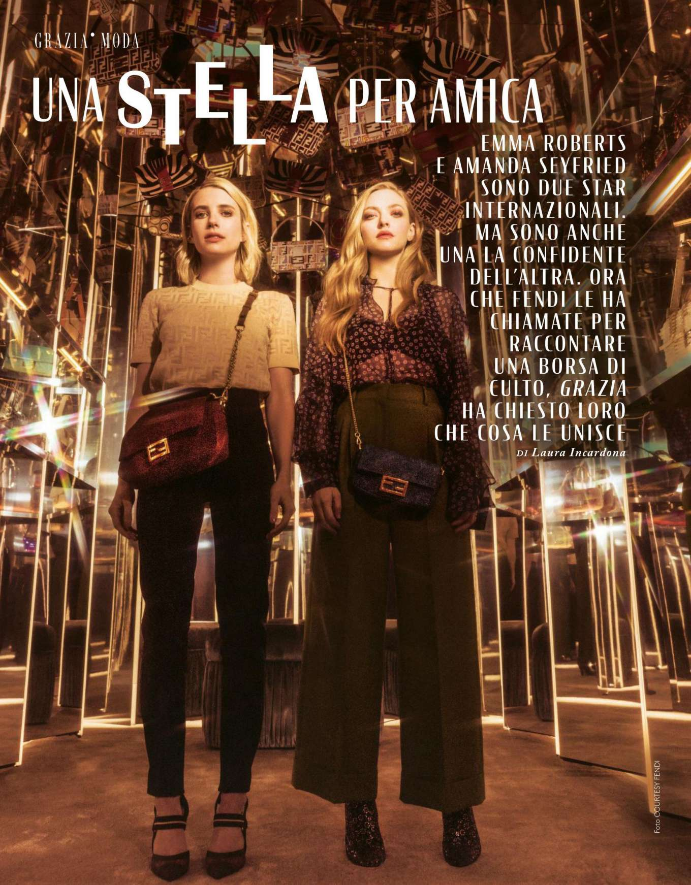 Emma Roberts and Amanda Seyfried - Grazia Italy Magazine (June 2019)