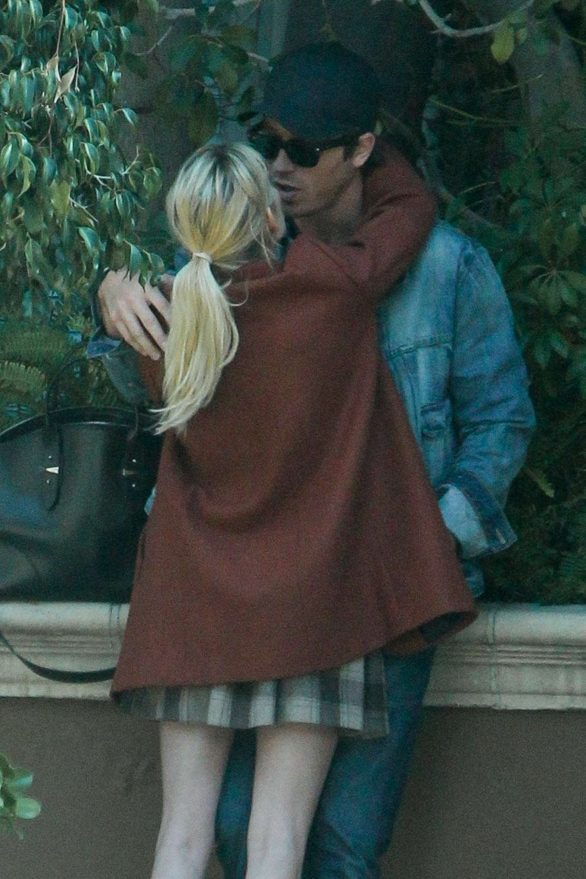 Emma Roberts and boyfriend Garrett Hedlund - Outside The Four Season Hotel in Beverly Hills