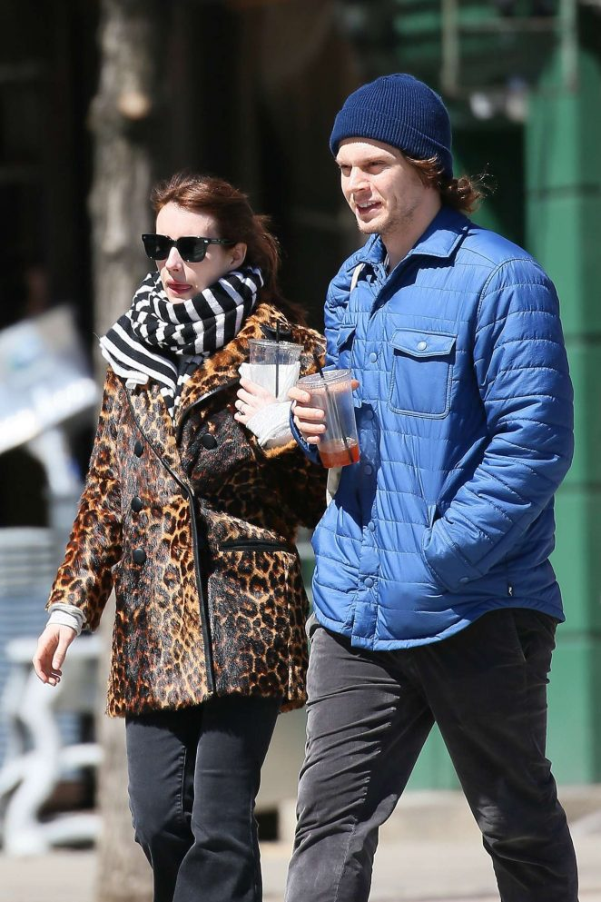Emma Roberts and Evan Peters out in Soho