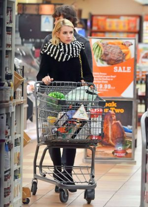 Emma Roberts and Evan Peters - Shopping in Los Angeles