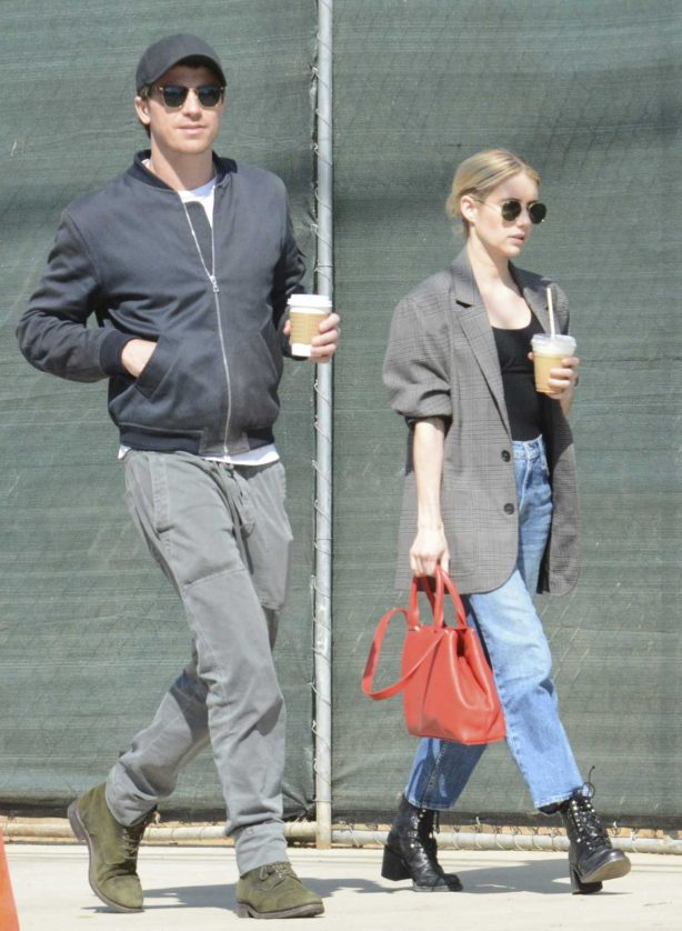 Emma Roberts and Garret Hedlund - Running errands in Los Feliz