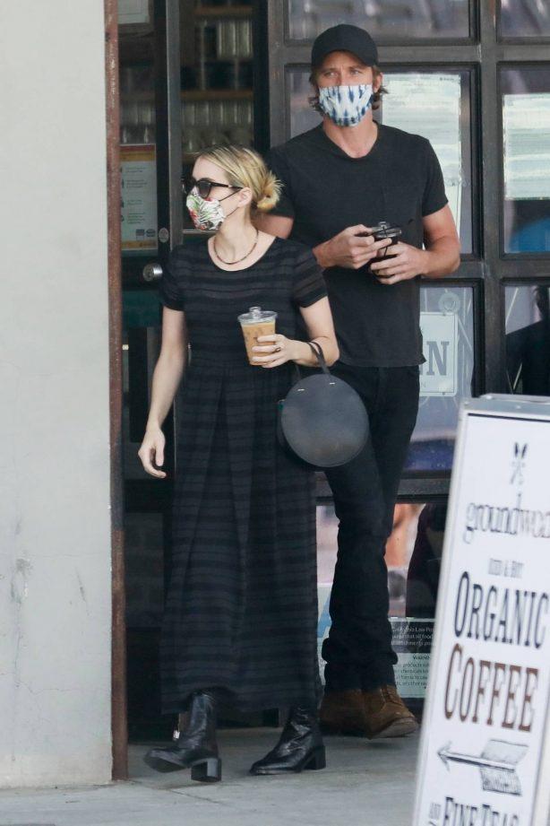 Emma Roberts and Garrett Hedlund at Larchmont Village in Los Angeles
