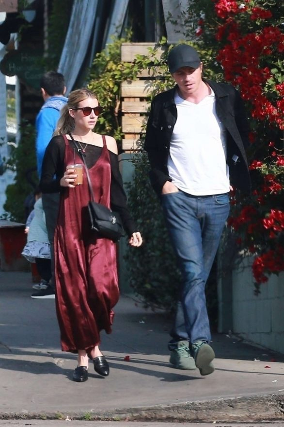 Emma Roberts and Garrett Hedlund - Go out for breakfast in Los Feliz