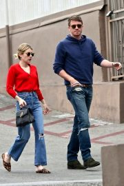 Emma Roberts and Garrett Hedlund - Leaves Stamp Proper Foods in Los Feliz