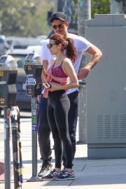 Emma Roberts and Garrett Hedlund - Leaves the gym in Los Angeles