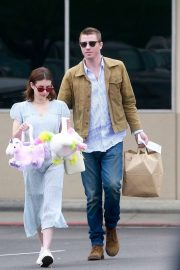 Emma Roberts and Garrett Hedlund - Shopping on Easter in Los Angeles