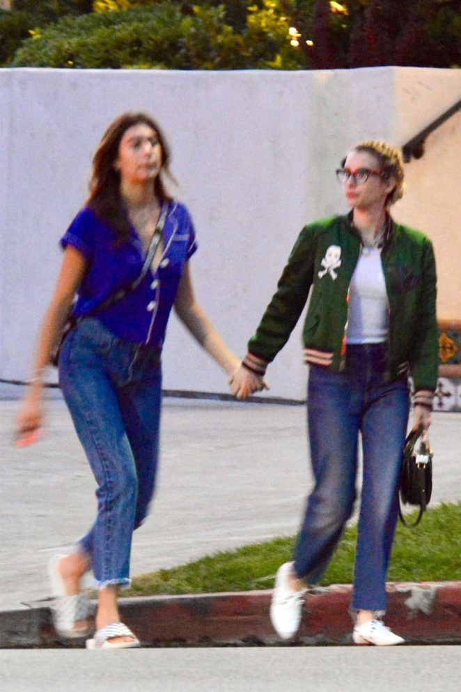 Emma Roberts and her sister out in Los Angeles