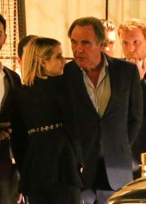 Emma Roberts and Oliver Stone at CAA pre Oscar party in West Hollywood