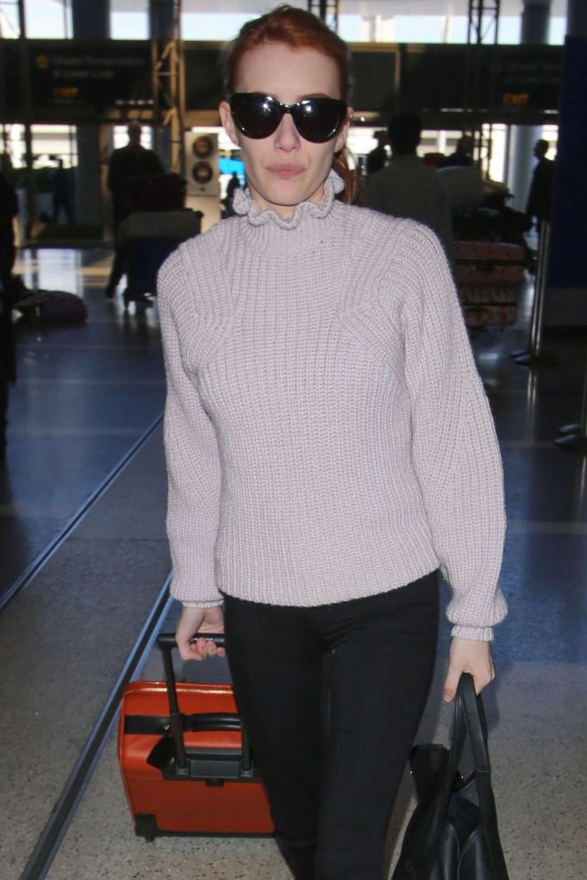Emma Roberts - Arrives at LAX Airport in Los Angeles