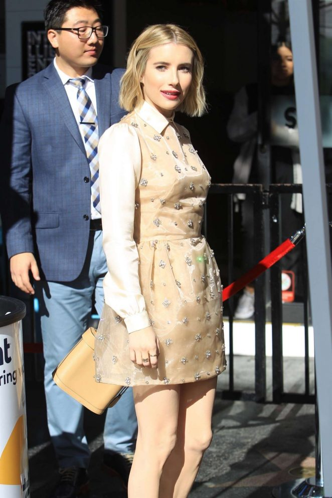 Emma Roberts - Arrives at Ryan Murphy's Walk of Fame Ceremony in Hollywood