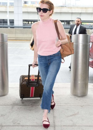 Emma Roberts - Arriving at JFK Airport in New York City