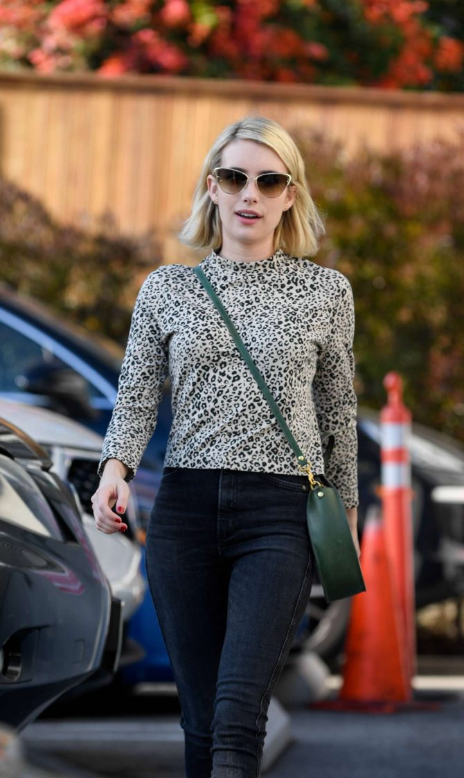 Emma Roberts at a film company office in West Hollywood