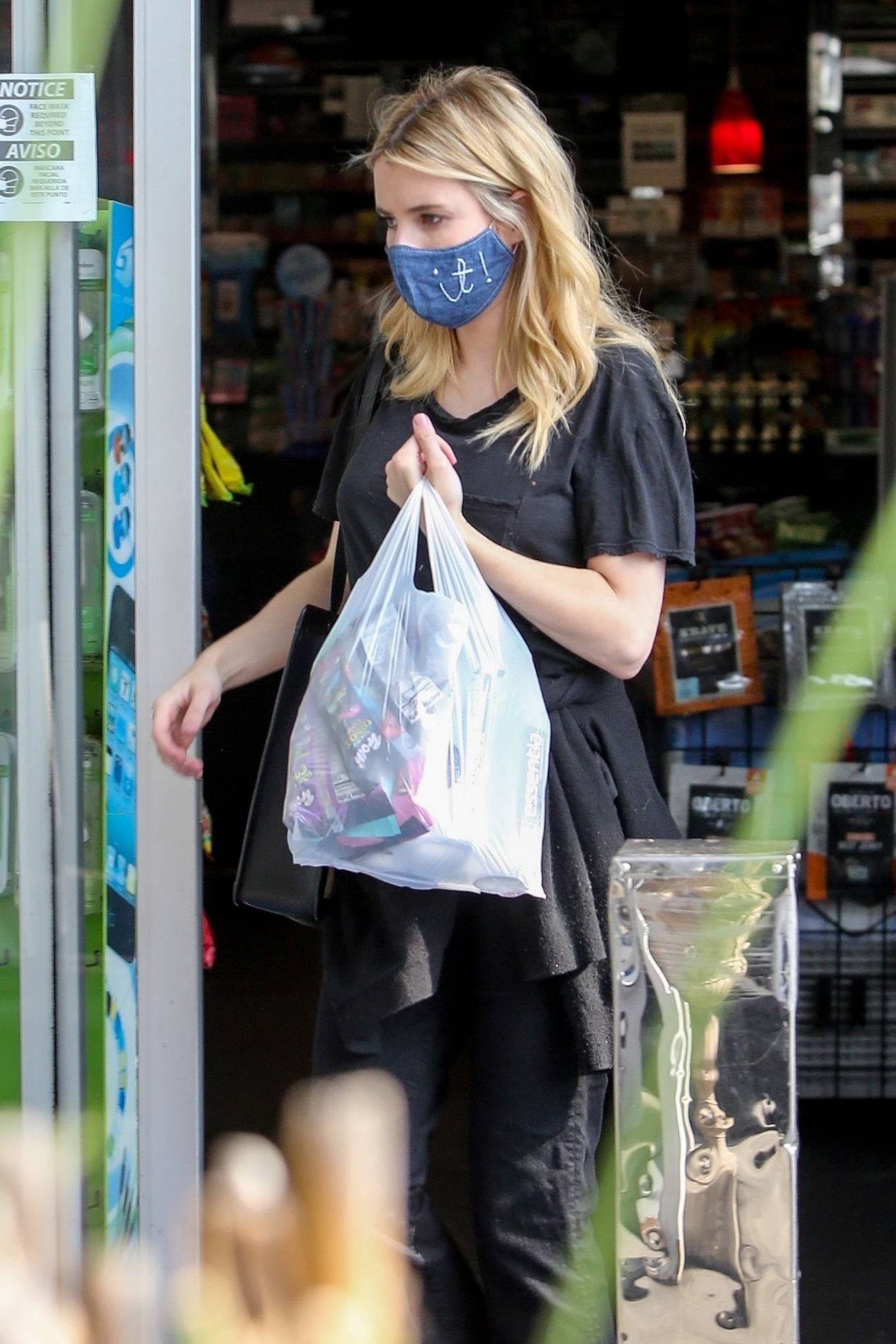 Emma Roberts - At a gas station in Los Feliz