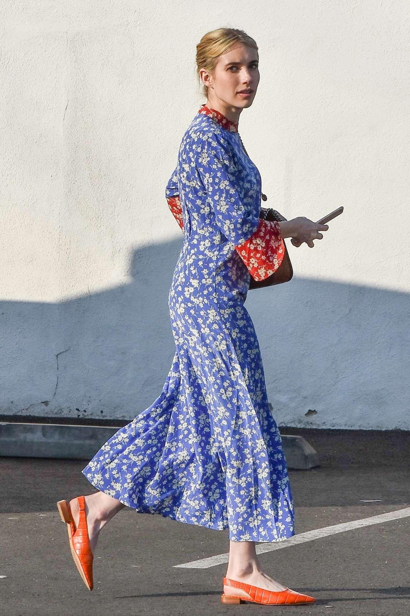 Emma Roberts 2019 : Emma Roberts at Blue Bottle Coffee Shop in Los Feliz-09